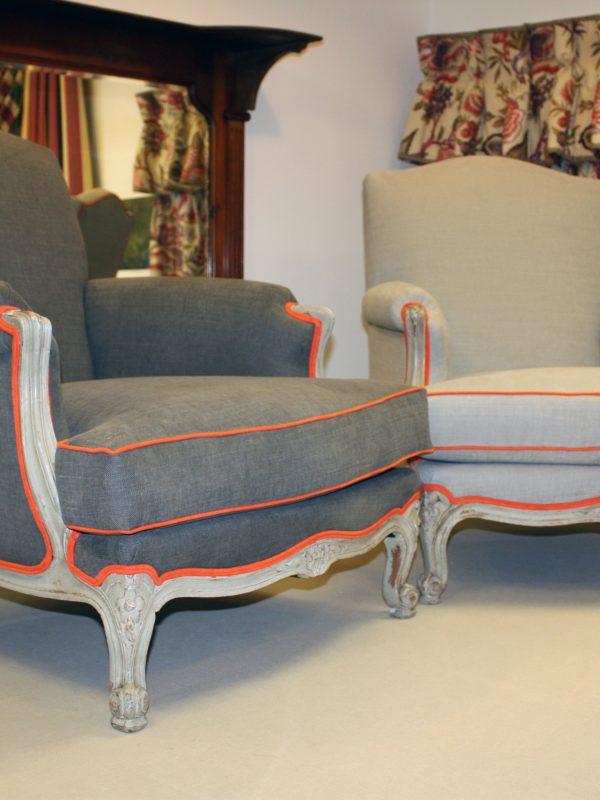 Louis-style Bergères armchairs