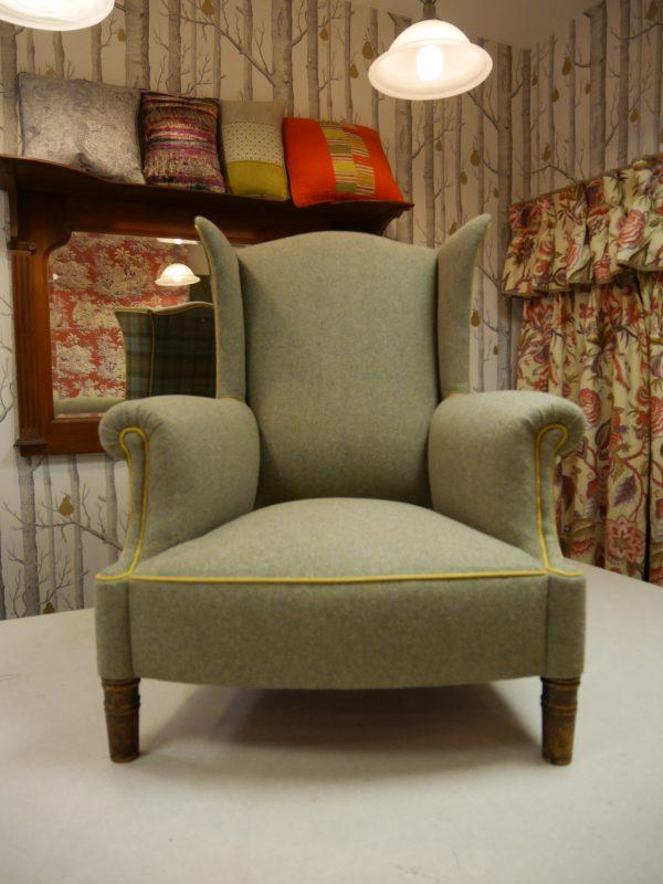 Tweed Wingback Armchair